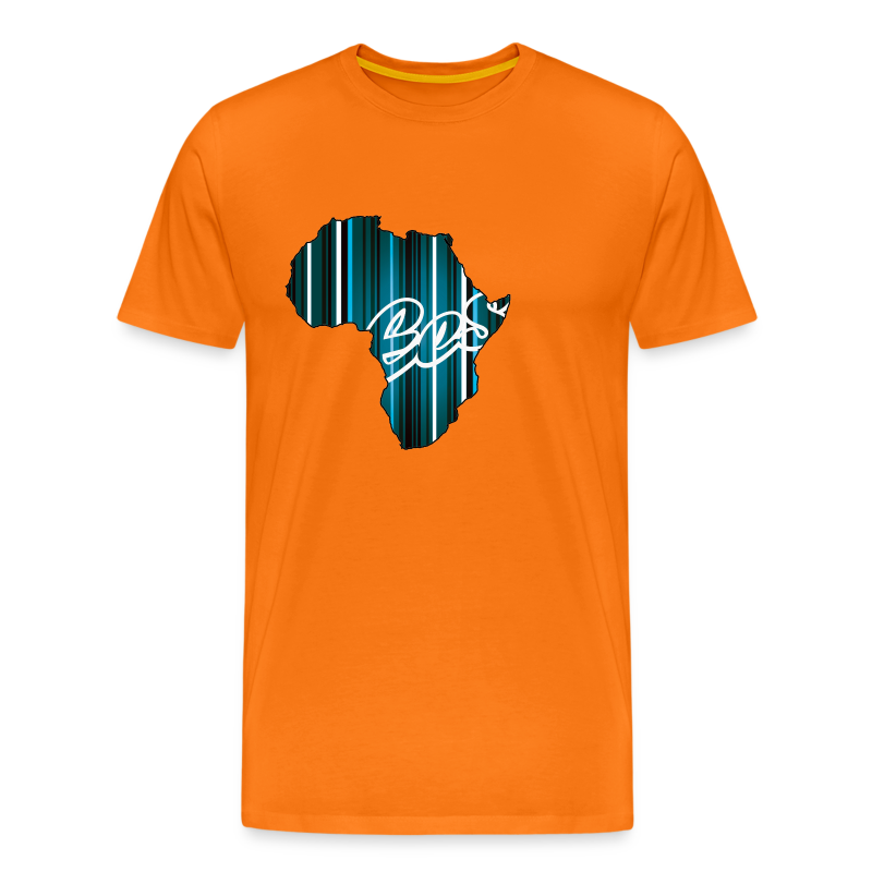 EES - Africa is the Future (orange/stripes) - Men's Premium T-Shirt - Men's Premium T-Shirt