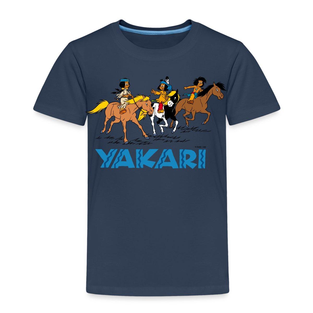 yakari regenbogen kleiner dachs kinder premium t shirt. Black Bedroom Furniture Sets. Home Design Ideas