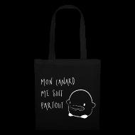 Sac en tissu Mon Canard me suit partout accessoire cadeau humour