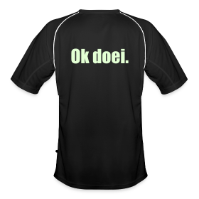 Voetbal shirt, M, Glow In The Dark (achterkant)