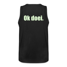 Muscle-shirt, M, Glow In The Dark (achterkant)