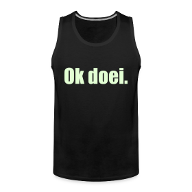 Muscle-shirt, M, Glow In The Dark (voorkant)