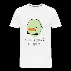 tee shirt canard homme Je suis un connard et j'assume !