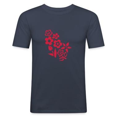 Dark navy flowers T-Shirts
