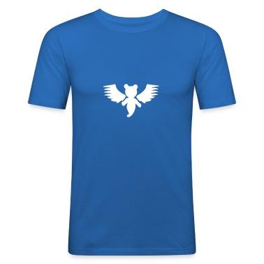 Sky blue Teddy Engel / teddy angel (1c) Men's T-Shirts