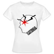 White clusterhead t-shirt for women
