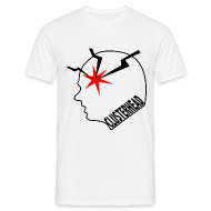 White clusterhead t-shirt for men