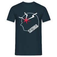 Clusterhead t-shirt for men, white logo