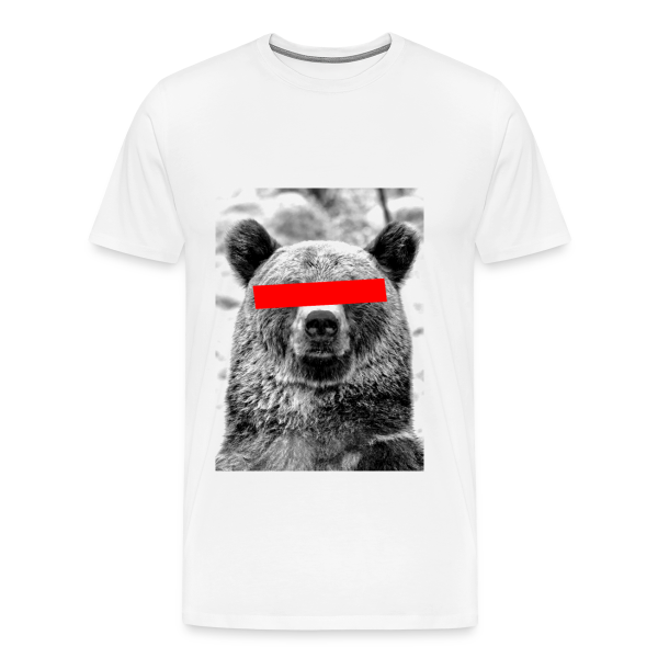 Censored Bear – T-Shirt – weiß