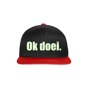 Snapback cap - Glow In The Dark (zwart/rood)