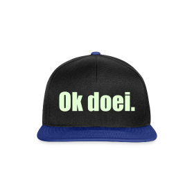 Snapback cap - Glow In The Dark (zwart/koningsgrijs)