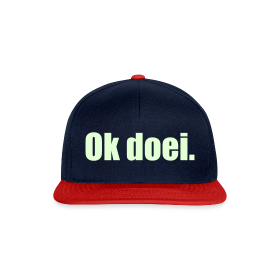 Snapback cap - Glow In The Dark (navy/rood)