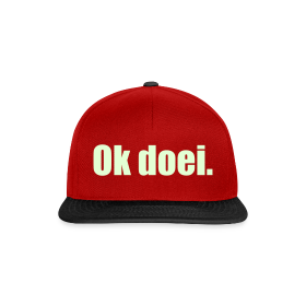 Snapback cap - Glow In The Dark (rood/zwart)