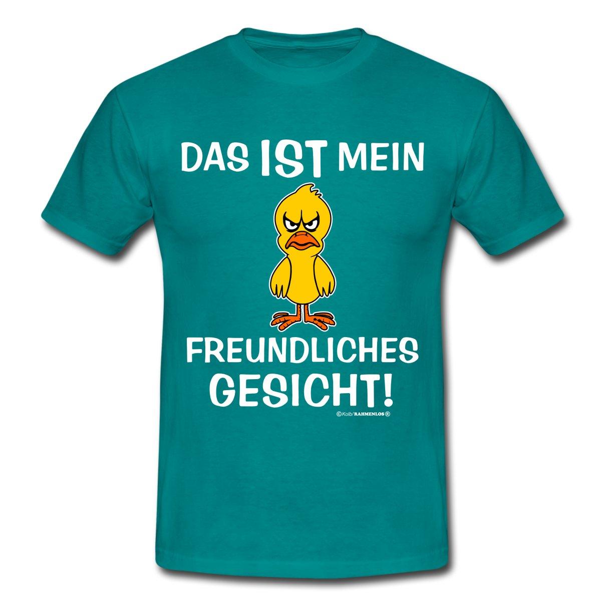 Freundliches-Gesicht-RAHMENLOS-Maenner-T-Shirt-von-Spreadshirt