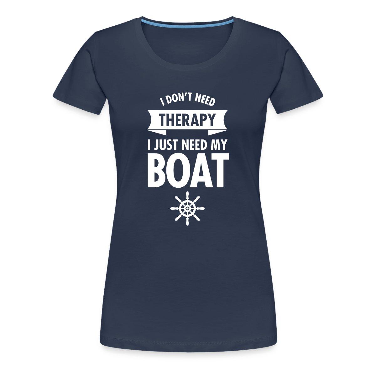 Just-Need-My-Boat-Segeln-Frauen-Premium-T-Shirt-von-Spreadshirt