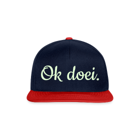 Snapback cap - Curvy Glow In The Dark (navy/rood)