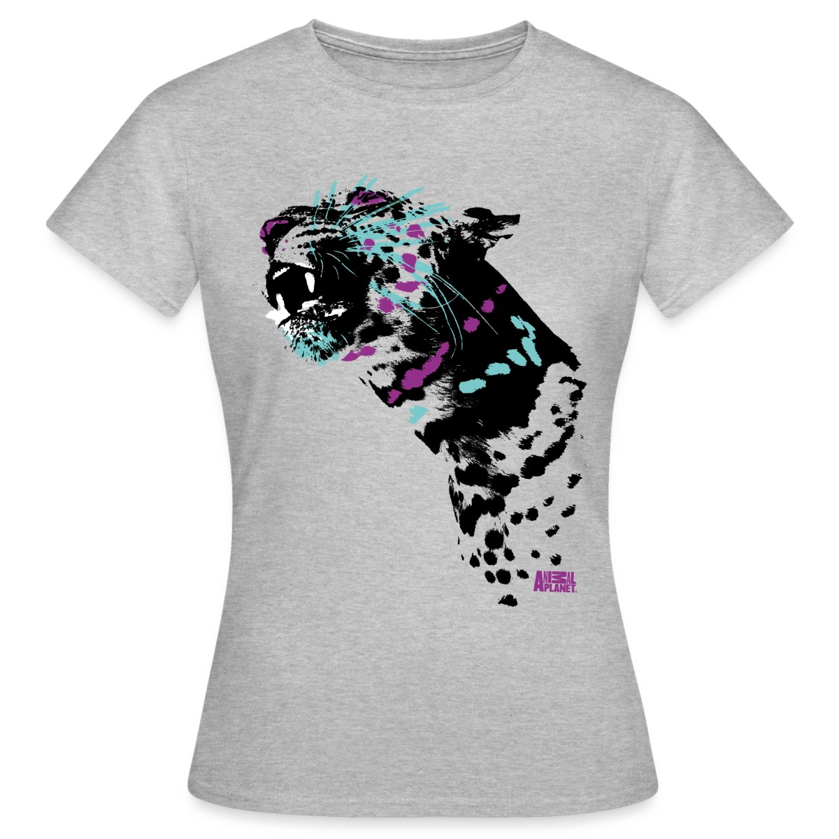 Leopard-Animal-Planet-Frauen-T-Shirt-von-Spreadshirt