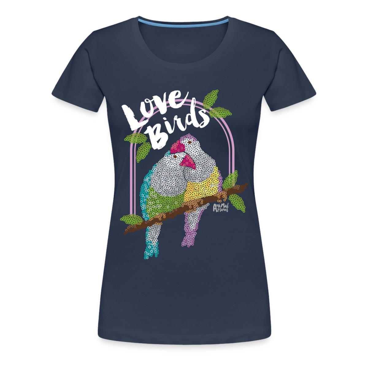 Animal-Planet-Lovebirds-Unzertrennliche-Frauen-Premium-T-Shirt-von-Spreadshirt