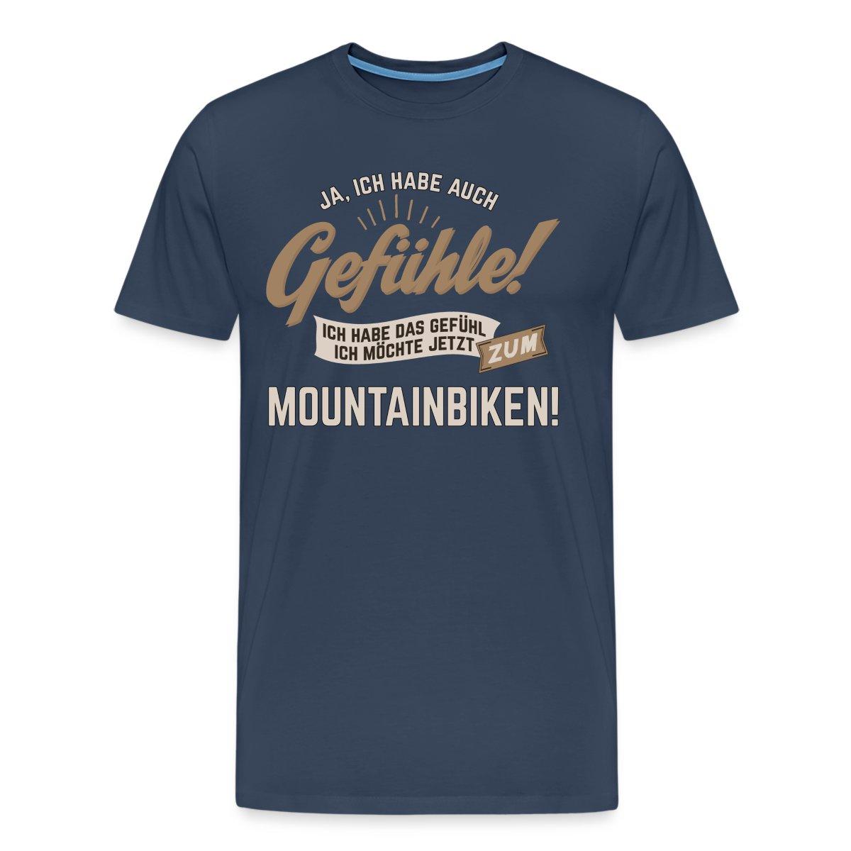 Mountainbiken-Gefuehle-Spruch-RAHMENLOS-Maenner-Premium-T-Shirt-von-Spreadshirt