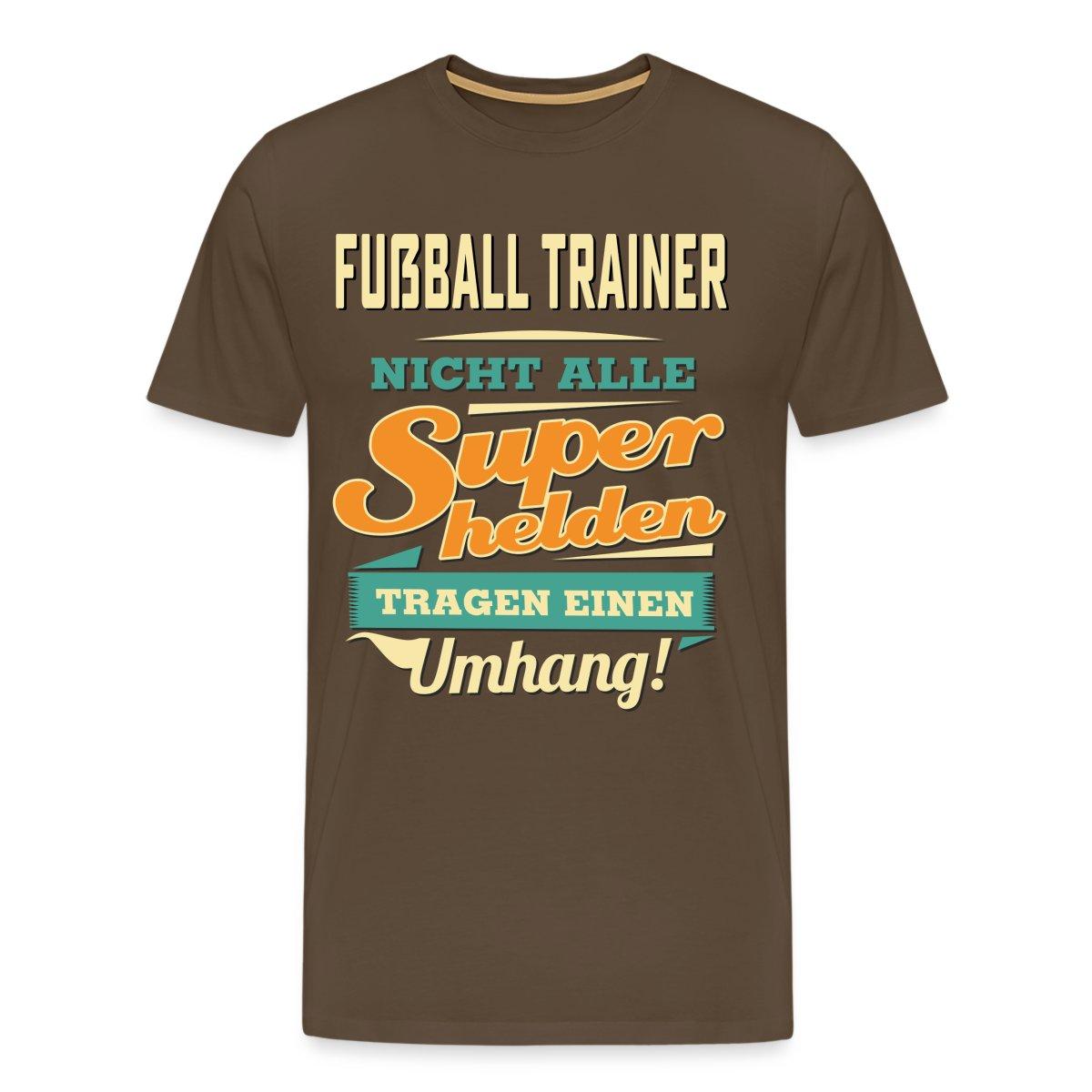 Fußball Trainer Superheld Ohne Umhang Männer Premium T Shirt Von