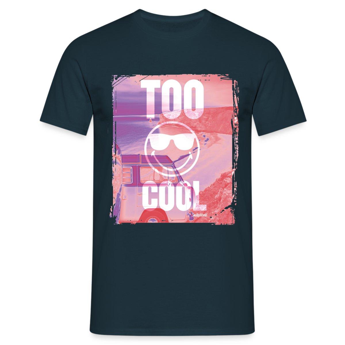 Smiley-World-Too-Cool-Maenner-T-Shirt-von-Spreadshirt