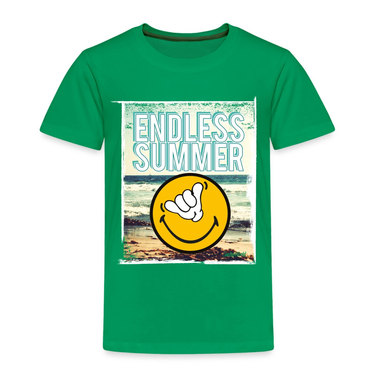 Smiley-World-Endless-Summer-Kinder-Premium-T-Shirt-von-Spreadshirt