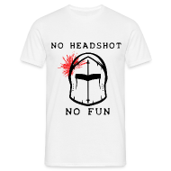 Tshirt Homme Blanc No Headshot No Fun