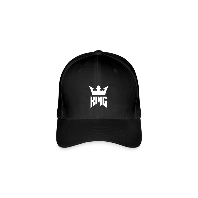 KING Basecap I (black) - Flexfit Baseball Cap