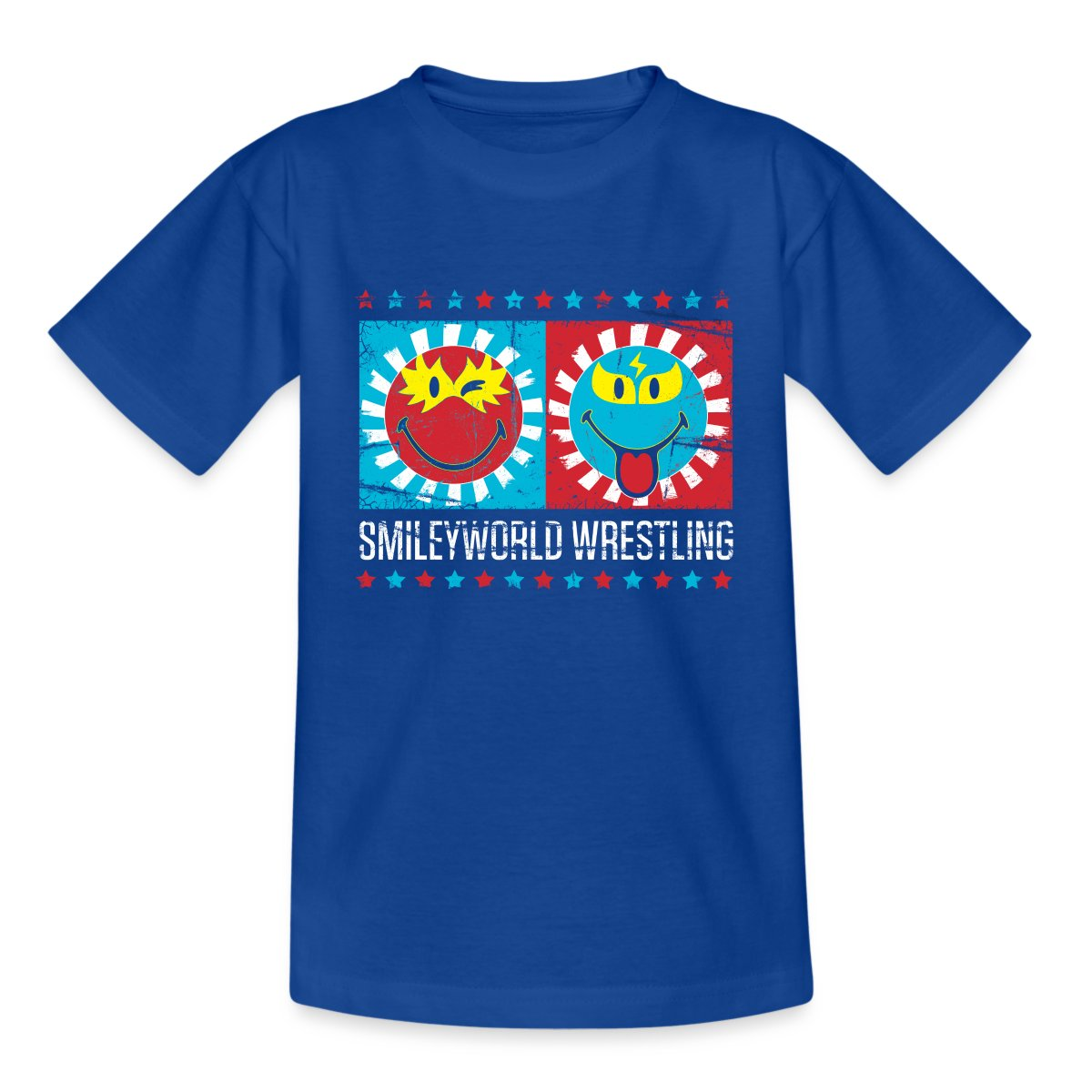 Smiley-World-Lucha-Libre-Wrestling-Smileys-Teenager-T-Shirt-von-Spreadshirt