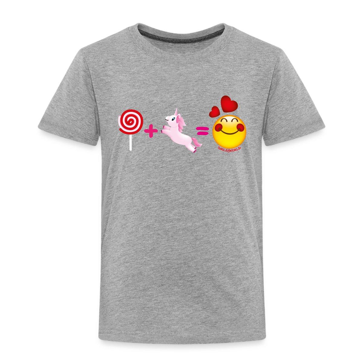 SmileyWorld-Lolli-Plus-Einhorn-Ist-Liebe-Kinder-Premium-T-Shirt-von-Spreadshirt