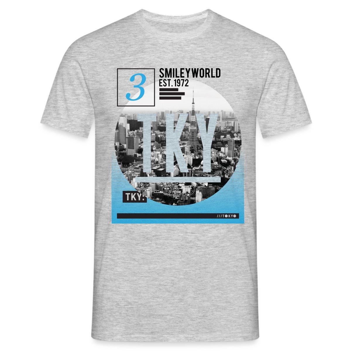 Smiley-World-Tokyo-Japan-Skyline-Maenner-T-Shirt-von-Spreadshirt