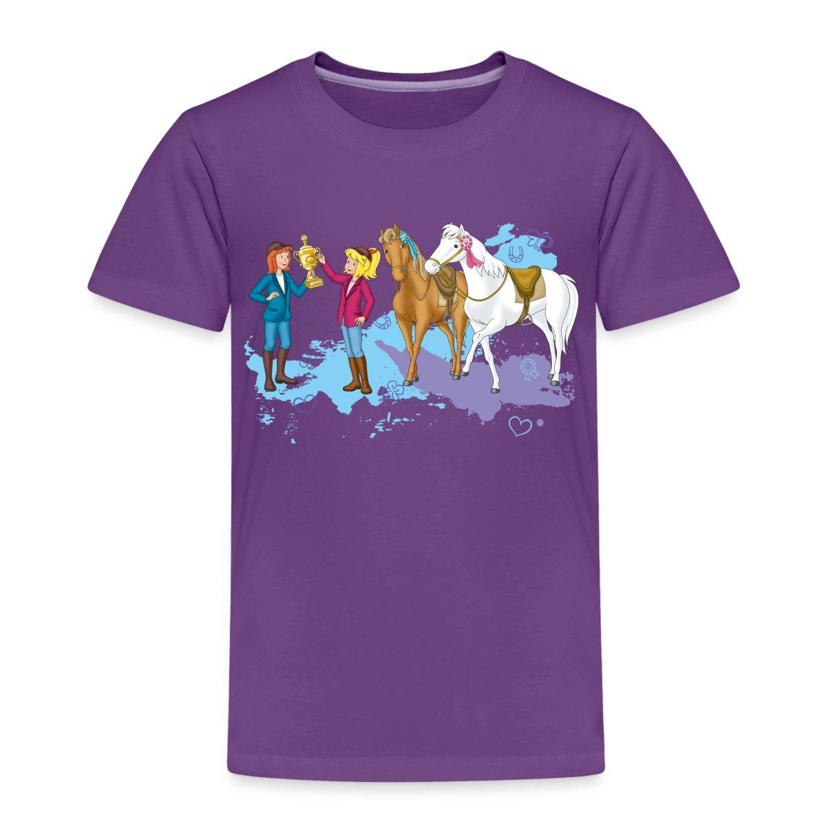 Bibi-Und-Tina-Pokal-Siegerschleifen-Kinder-Premium-T-Shirt-von-Spreadshirt