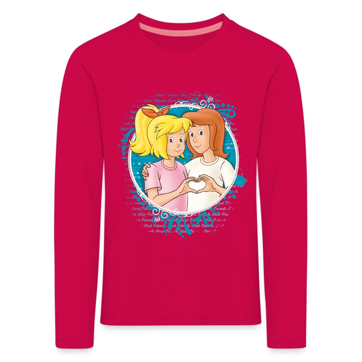 Bibi-Und-Tina-Zeichen-Der-Freundschaft-Kinder-Premium-Langarmshirt-von