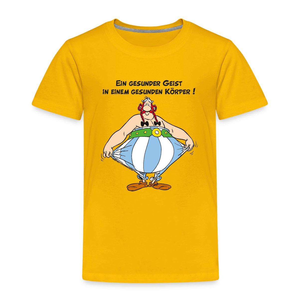 asterix und obelix k rper gesundheit spruch kinder t shirt von spreadshirt ebay. Black Bedroom Furniture Sets. Home Design Ideas