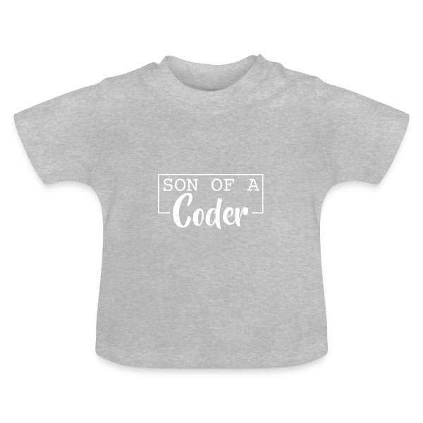 Son Of A Coder Weiß - Baby Kurzarm T-Shirt