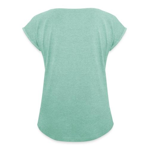 Thelwell Reiterin Mit Spiegel Auf Pferd Frauen T-Shirt mit gerollten Ärmeln