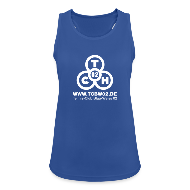 Frauen Funktions-Top blau - Frauen Tank Top atmungsaktiv