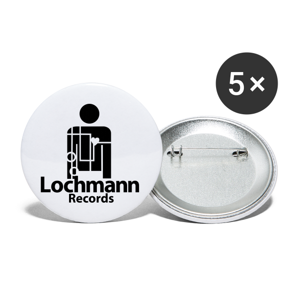 Lochmann Records  - Buttons groß 56 mm (5er Pack)