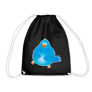 Fat Twitter Bird Hipster Turnbeutel
