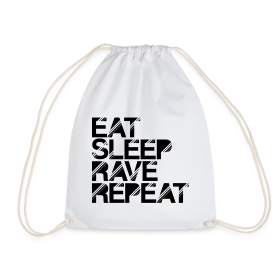 Eat sleep Rave repeat Turnbeutel