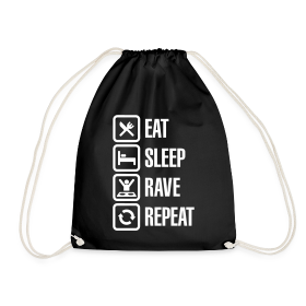 Eat sleep Rave repeat 2.0 | Techno Rave Turnbeutel