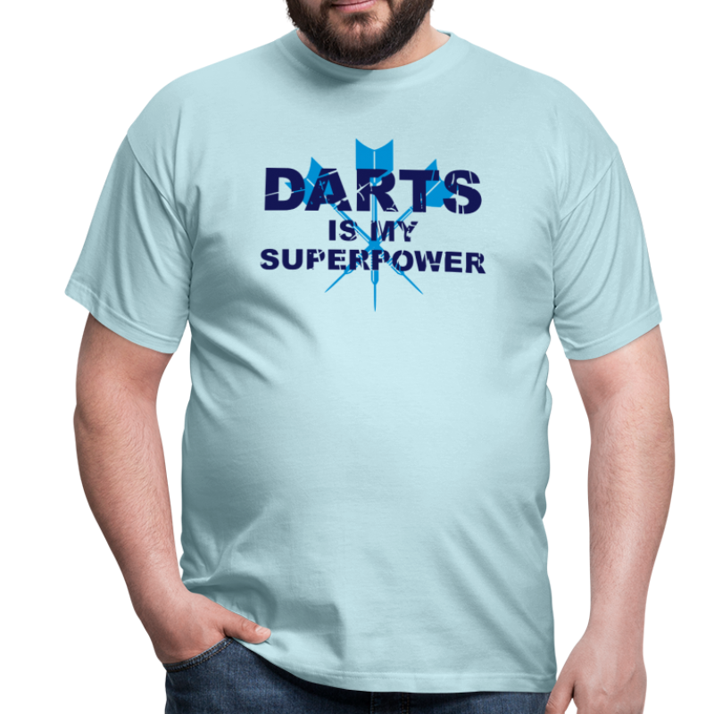 Darts is my superpower   - Männer T-Shirt