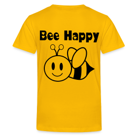 Bee Happy - Teenager Premium T-Shirt