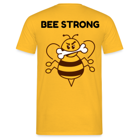 BEE STRONG - Männer T-Shirt
