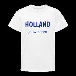 oranje t-shirt Holland met jouw naam bedrukt