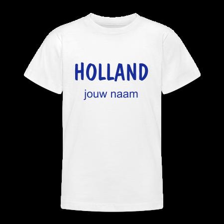 oranje t-shirt Holland met jouw naam bedrukt goudoranje