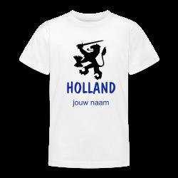 oranje t-shirt Holland voetbal leeuw met jouw naam bedrukt