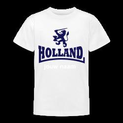 jong oranje t-shirt holland met jouw naam