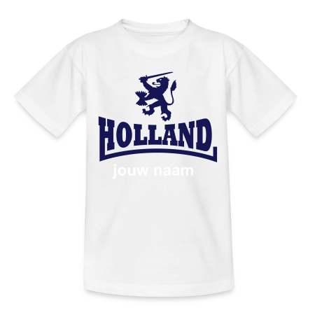 jong oranje t-shirt holland met jouw naam goudoranje