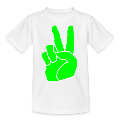 oranje t-shirt peace neo groen
